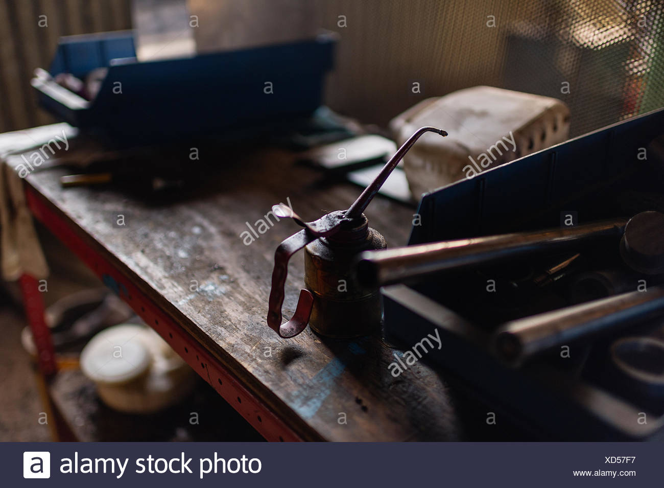 Sweden, Work tools on table - Stock Image