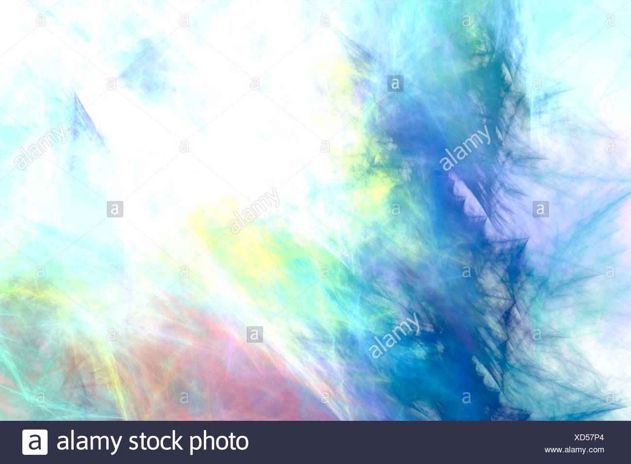 Colorful particles - Stock Image