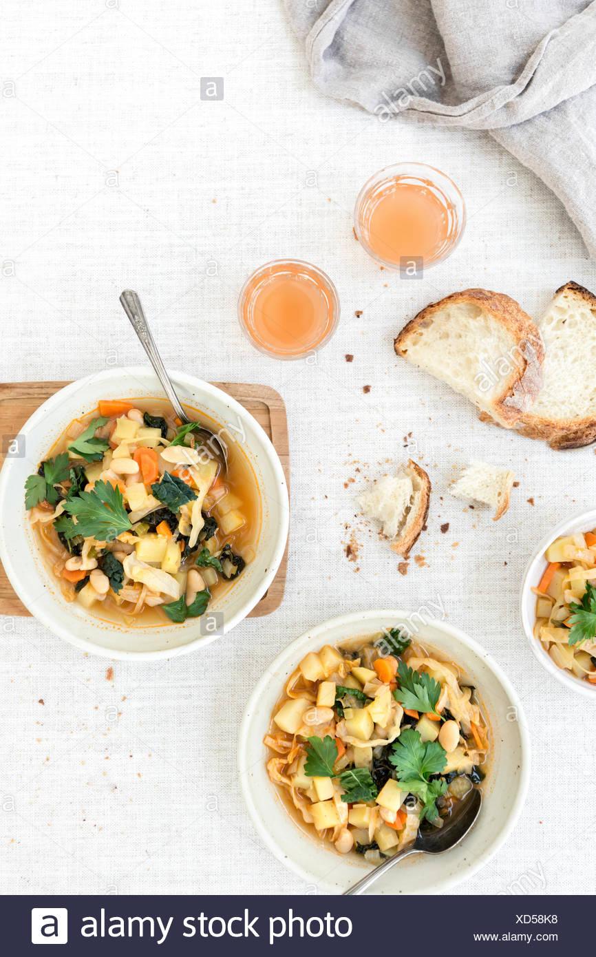 Tuscan Ribollita Soup - Stock Image