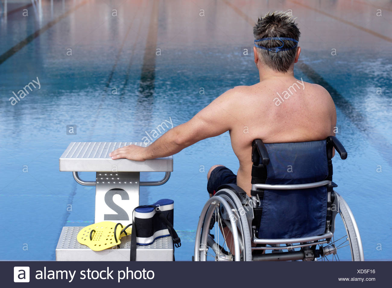 Pool Wheelchair Young Stock Photos & Pool Wheelchair Young Stock ...