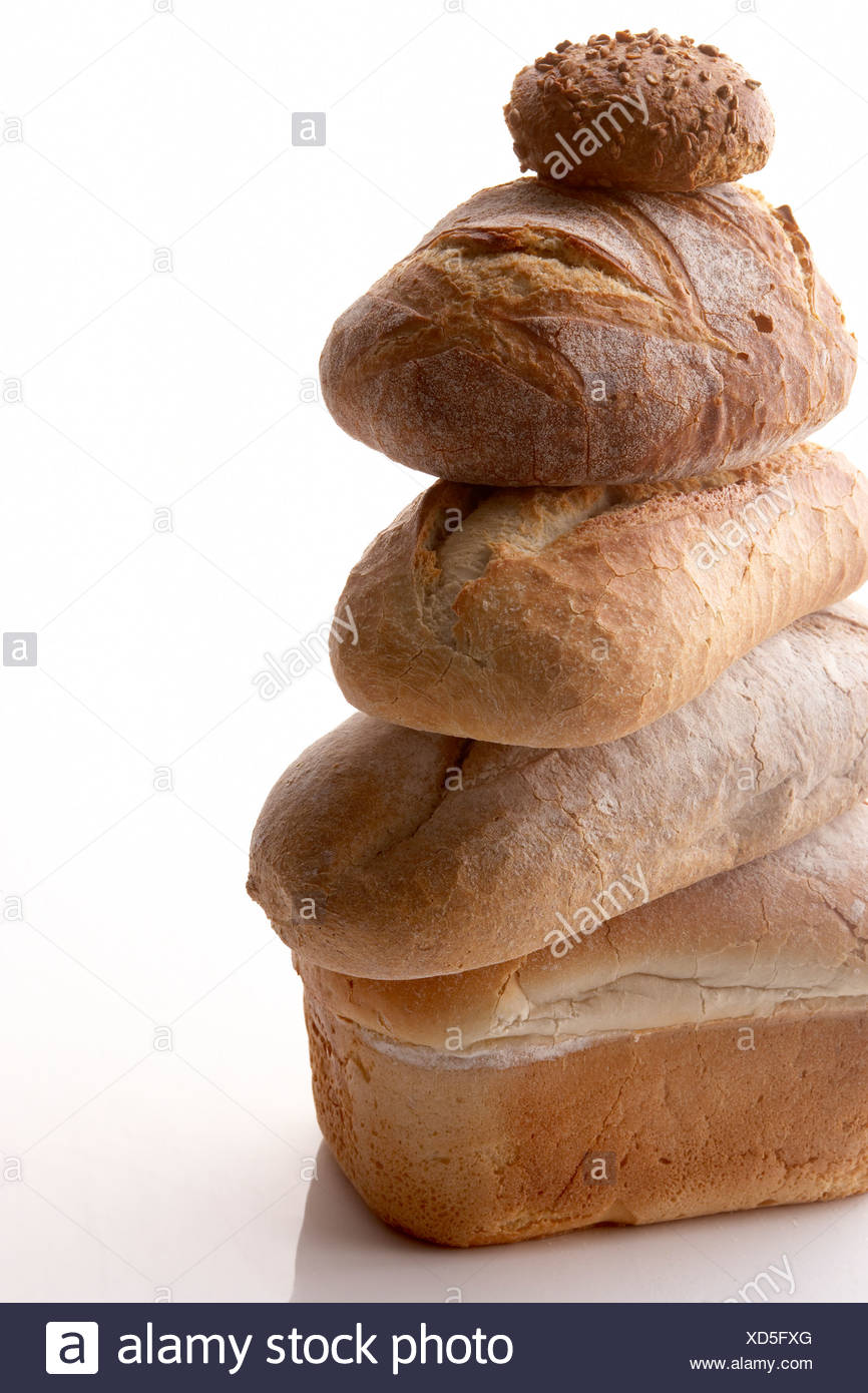 Stack Of Different Breads - Stock Image