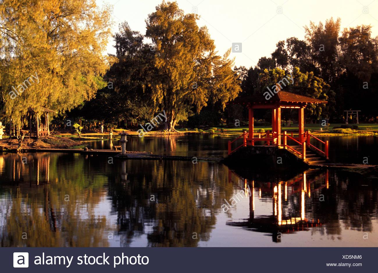 Lili\'uokalani park, in Hilo, on the Big Island Stock Photo ...