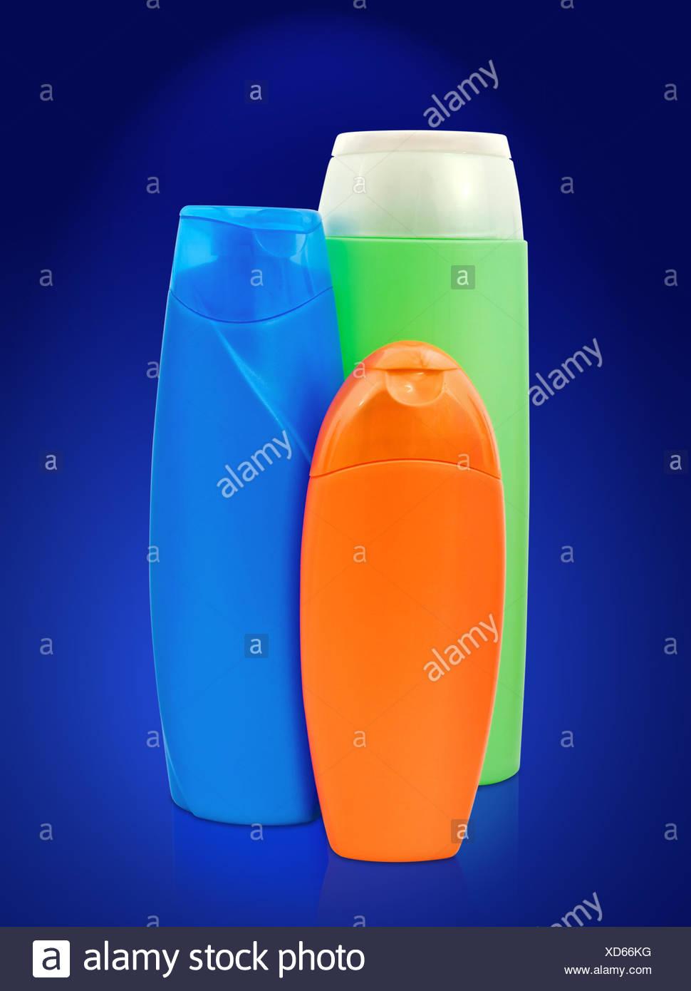 Toiletries Bottles - Stock Image