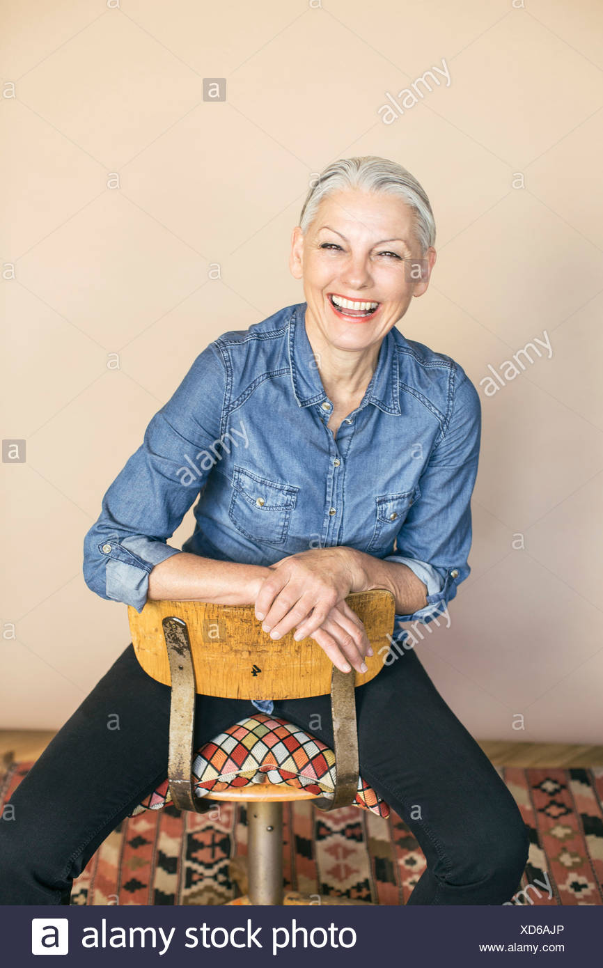 Woman in confident pose - Stock Image