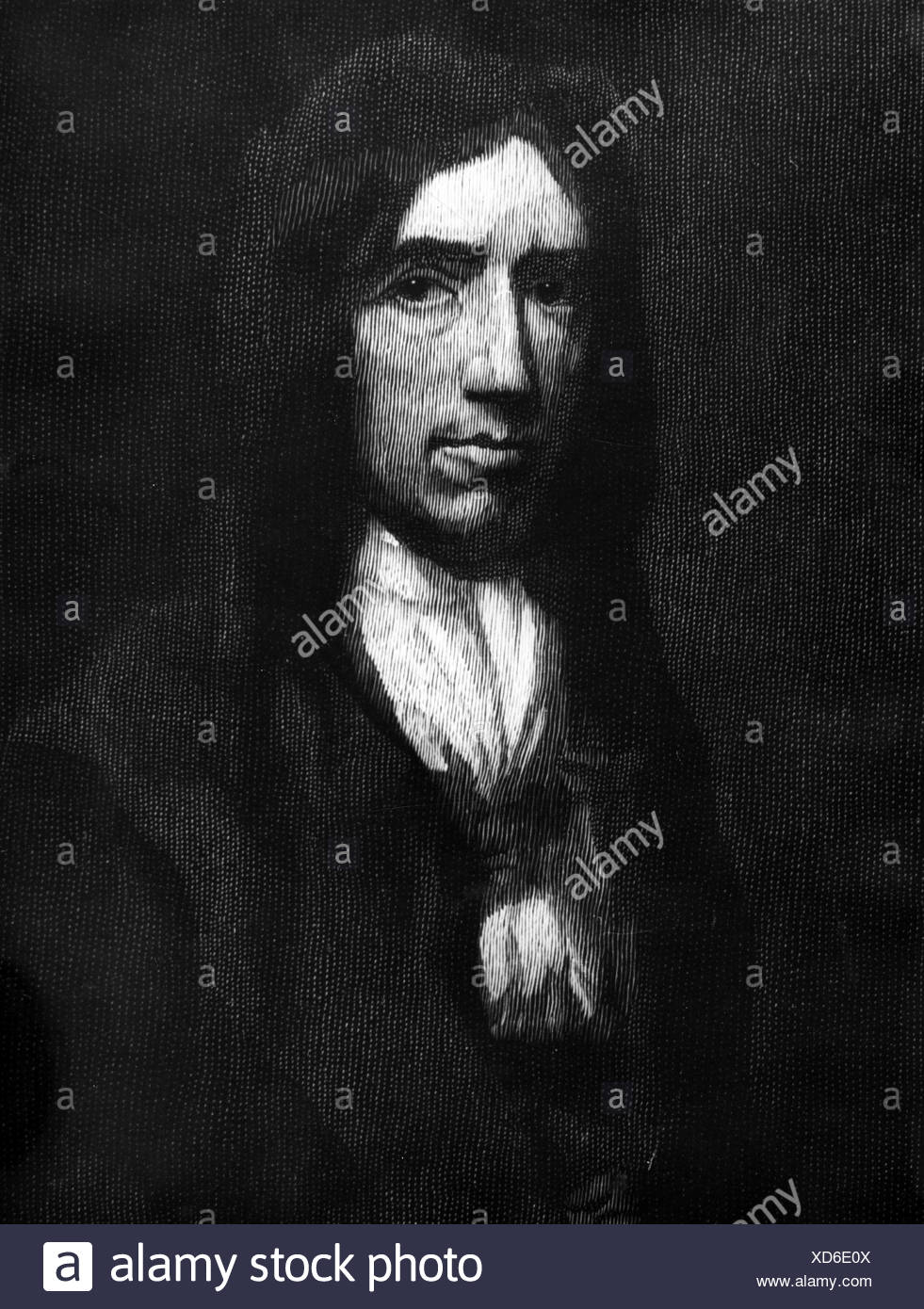 Dampier, William, 1651 - 1715, English sea captain, explorer, engraving, contemporaneous portrait, Additional-Rights-Clearances-NA - Stock Image