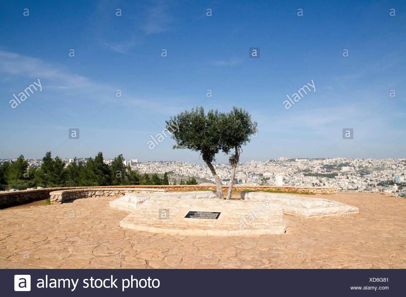 Israel, Lower Galilee, Mount Precipice overlooking Nazareth Stock Photo
