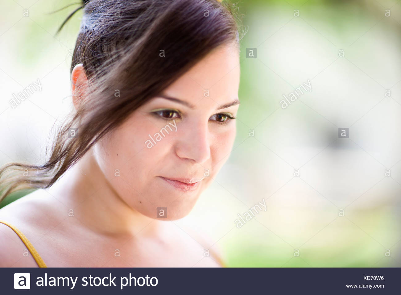 portrait of a young plump girl - Stock Image