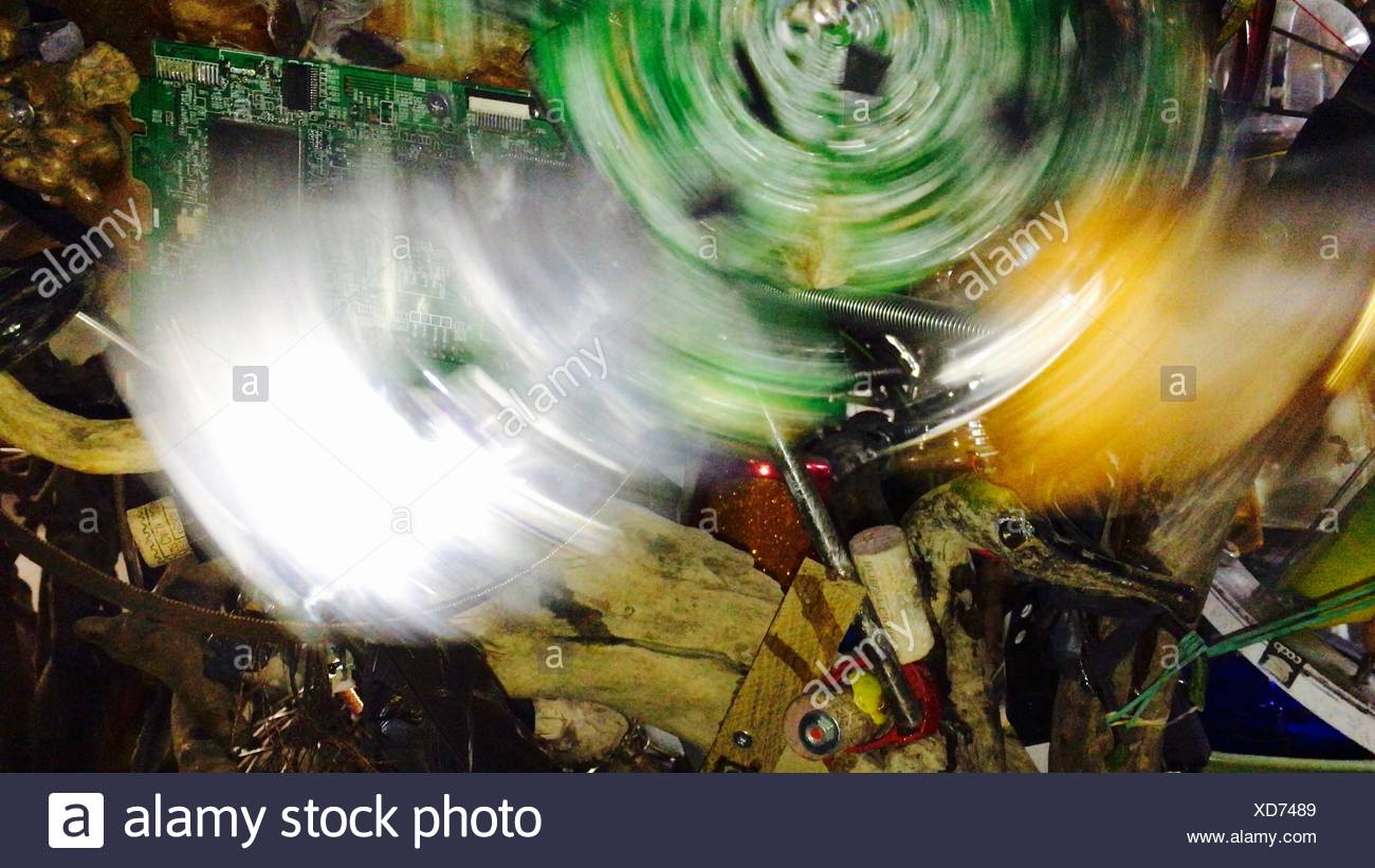 Blurred Motion Of Circuit Board On Junk - Stock Image