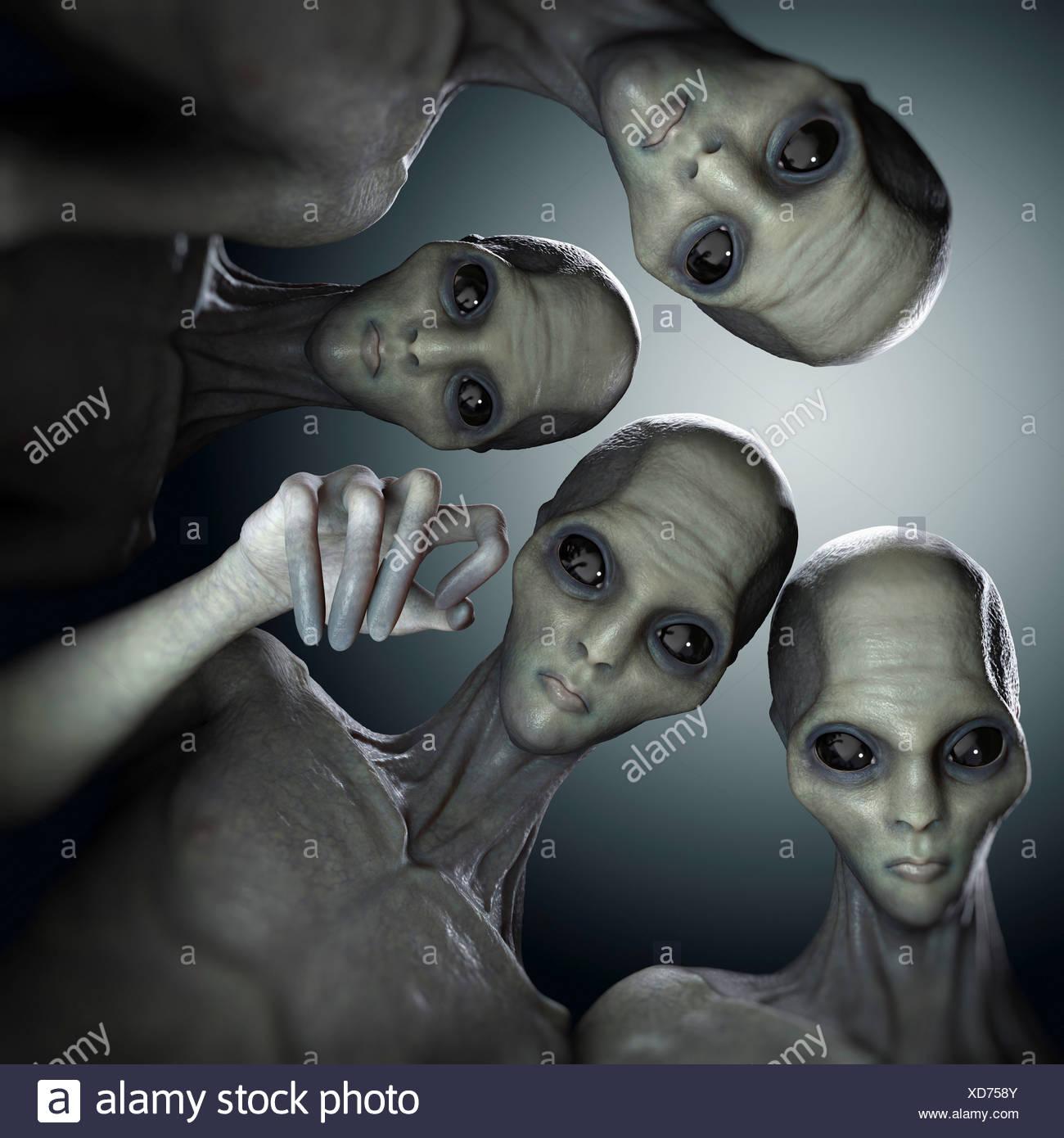 Alien Abduction - Stock Image