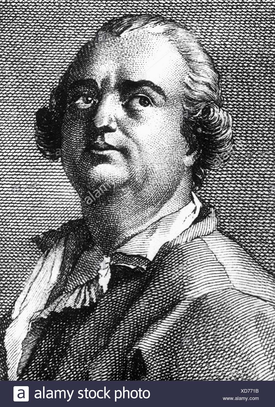 Cagliostro, Count Alessandro, 8.6.1743 - 26.12.1795, Italian adventurer and alchemist, portrait, contemporary copper engraving, detail, Artist's Copyright has not to be cleared - Stock Image