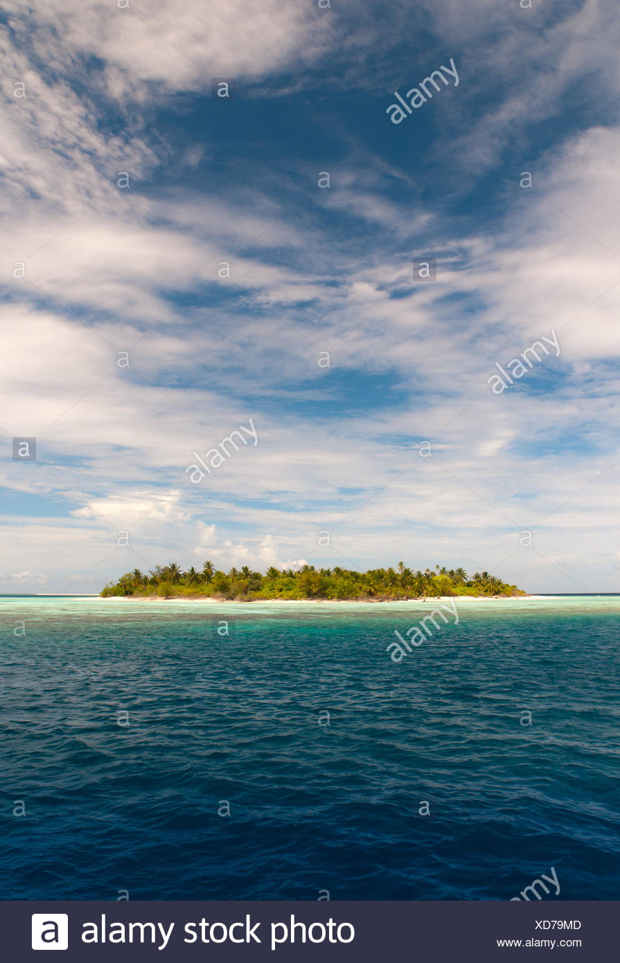 desert island in the indian ocean - Stock Image