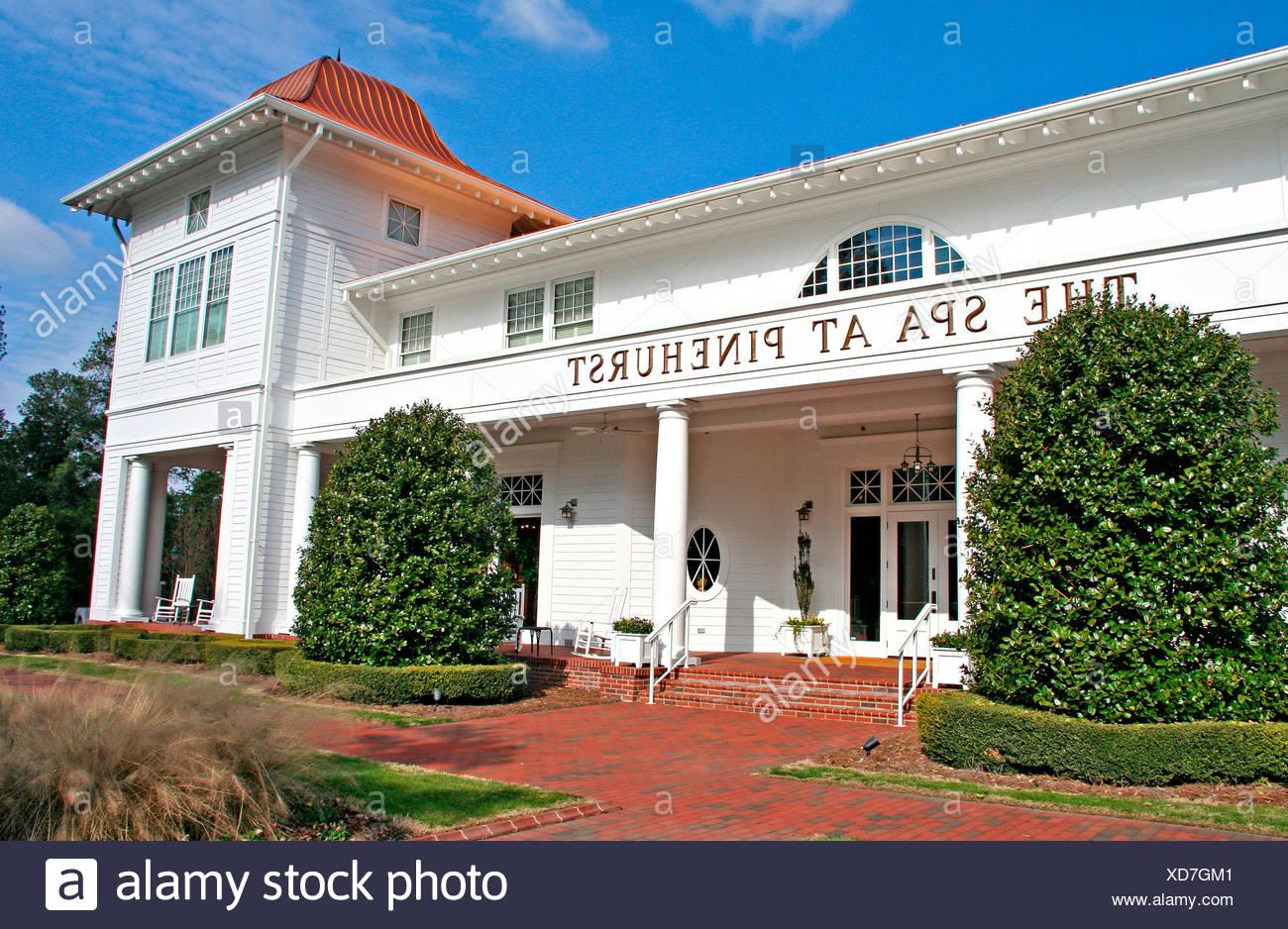 Pinehurst Spa and resort entrance North Carolina - Stock Image