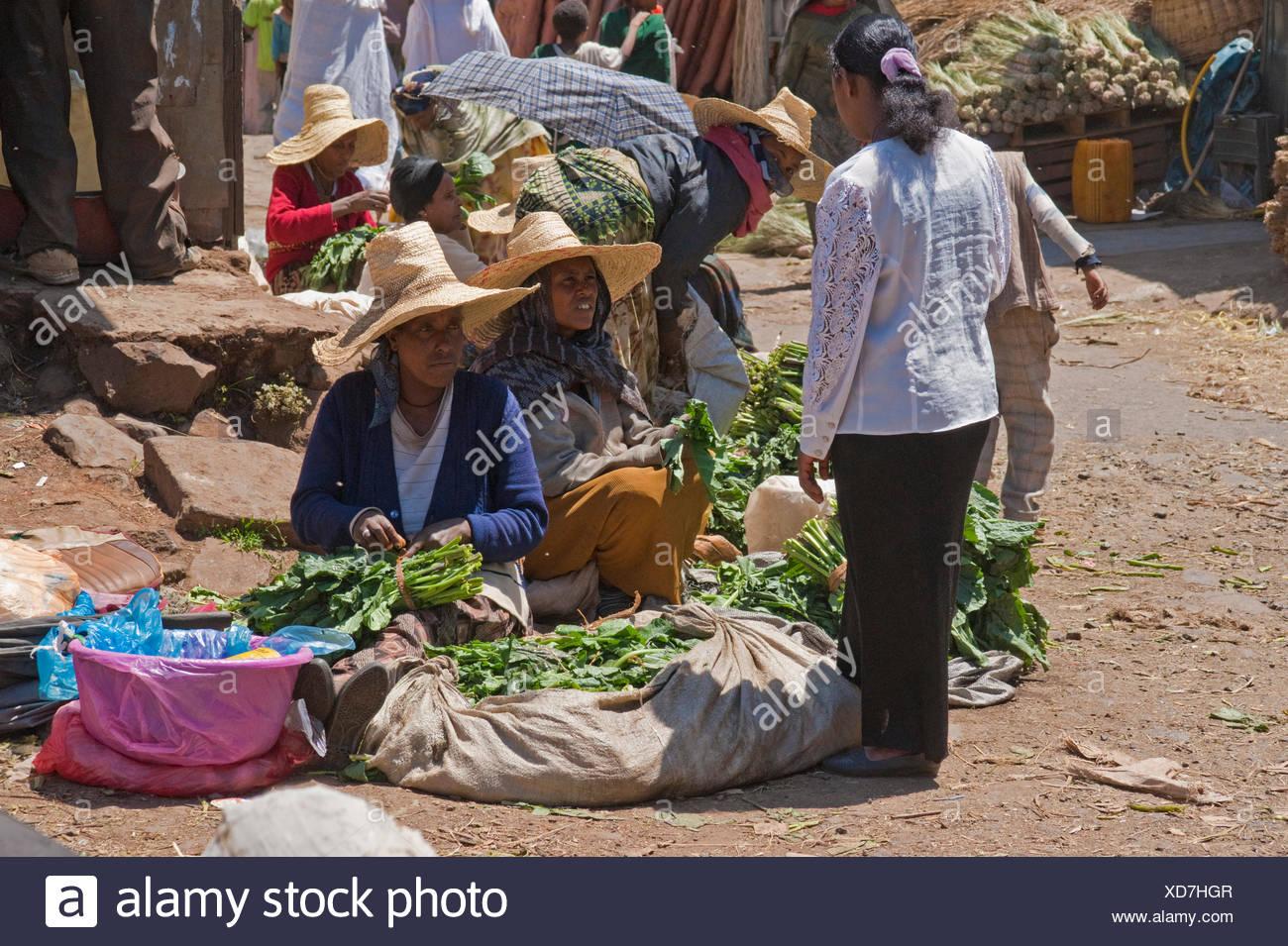 Market scene in the Mercato in Addis Ababa, Addis Abeba - Stock Image