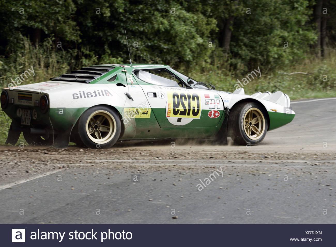 WRC Rallye WM Germany, vintage car, Lancia Stratos - Stock Image