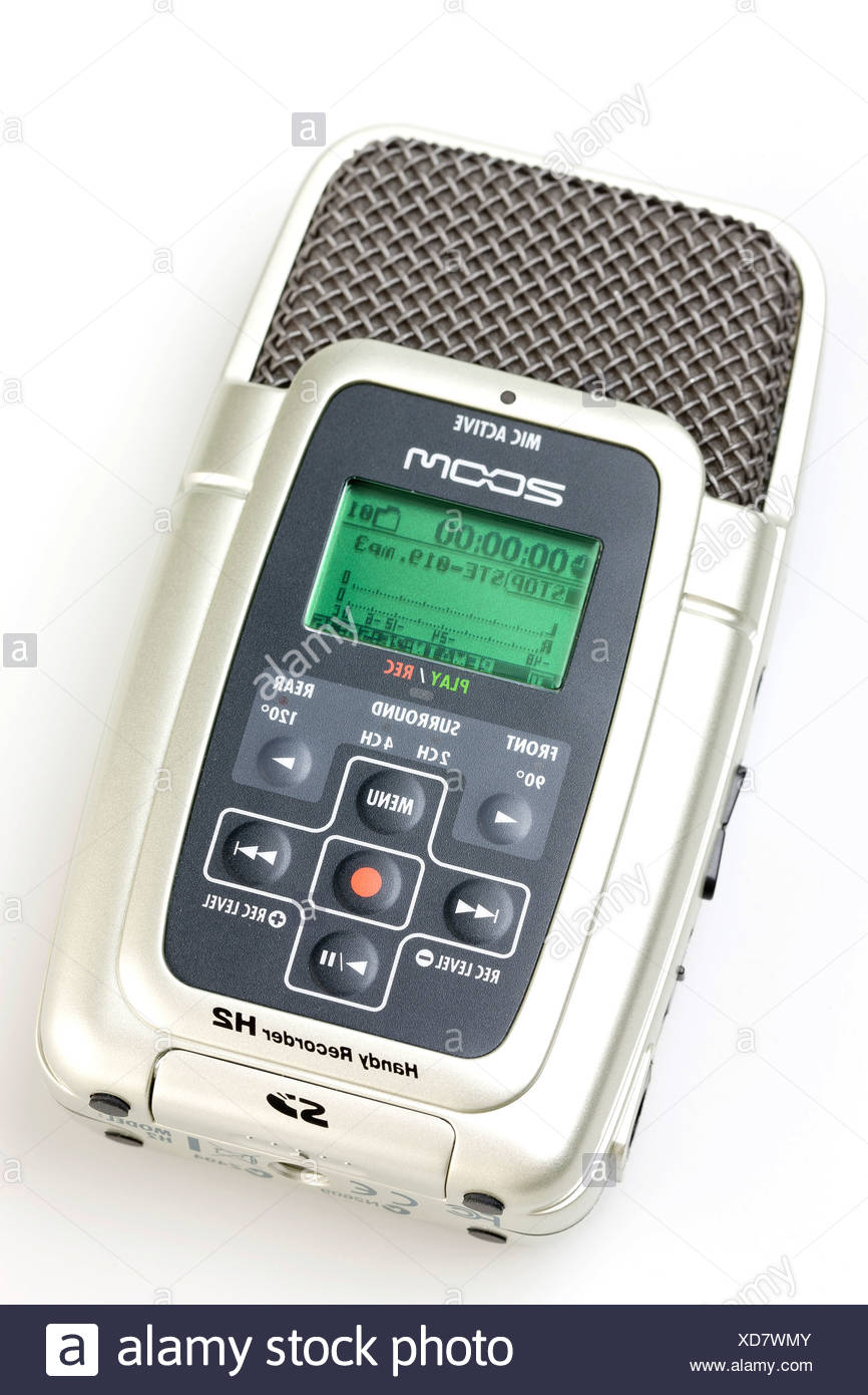 Mobile digital recorder - Stock Image