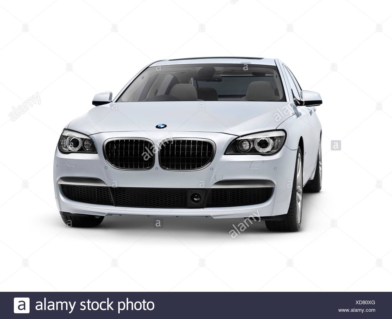 2010 BMW 760Li Individual 7 Series luxury sedan car - Stock Image