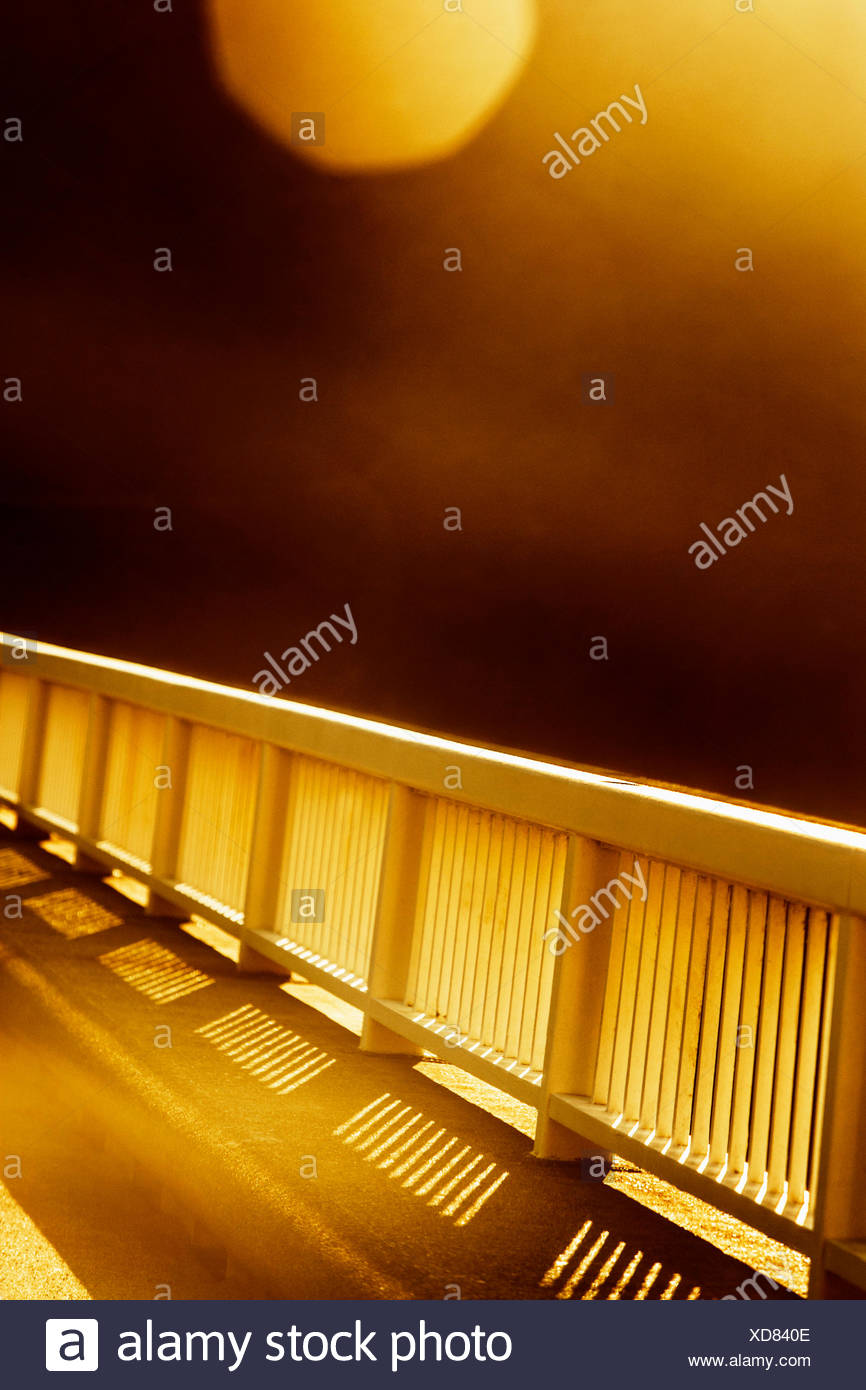 Barrier with motion blur and lens flare. - Stock Image