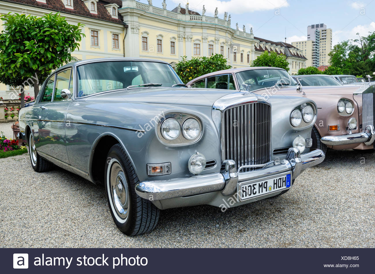 Bentley S3 Continental 'Chinese Headlamps', built after 1963, Classics meets Barock classic car meeting, Ludwigsburg Palace, - Stock Image