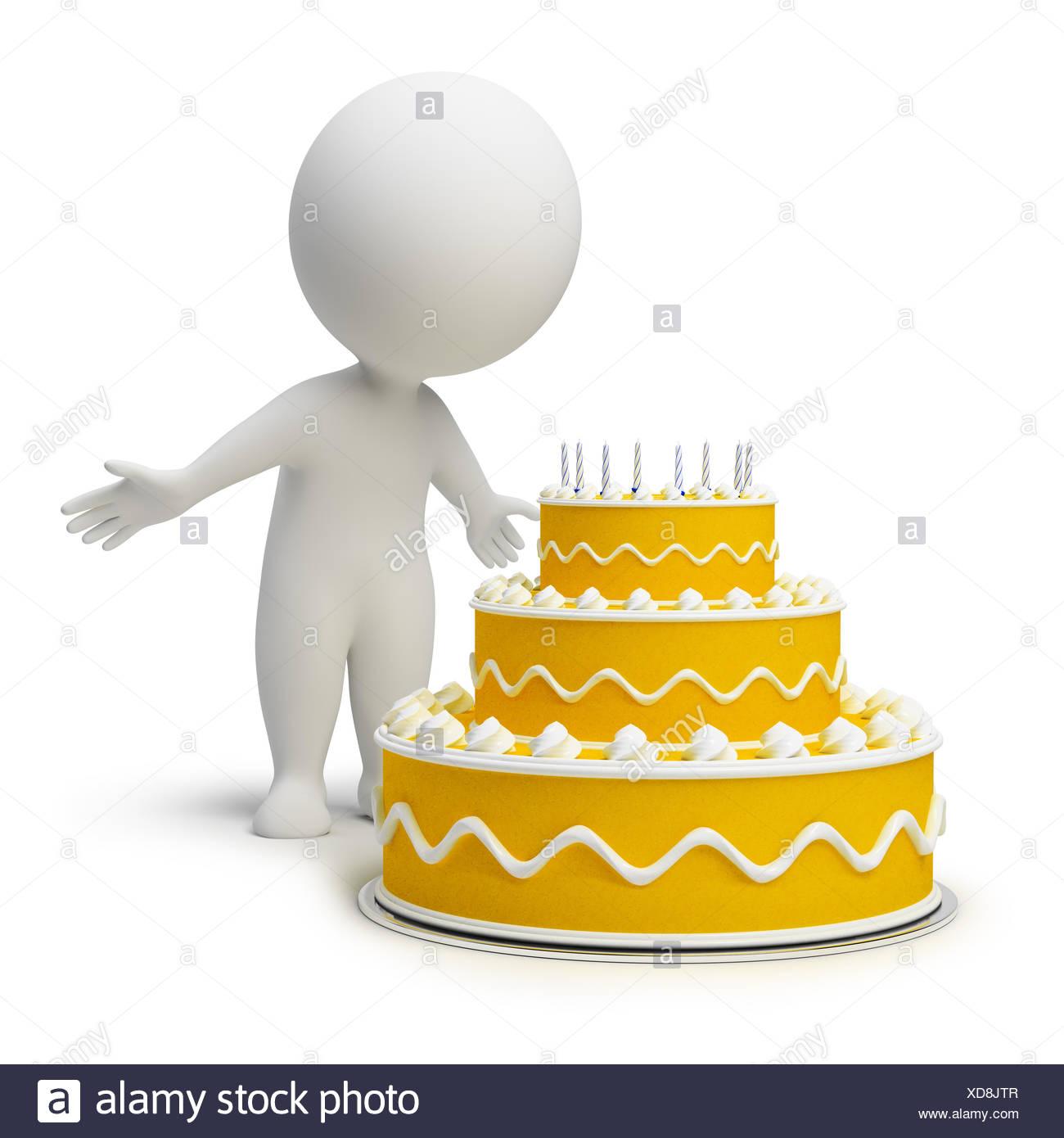 Surprising 3D Small People Birthday Cake Stock Photo 283546839 Alamy Personalised Birthday Cards Paralily Jamesorg