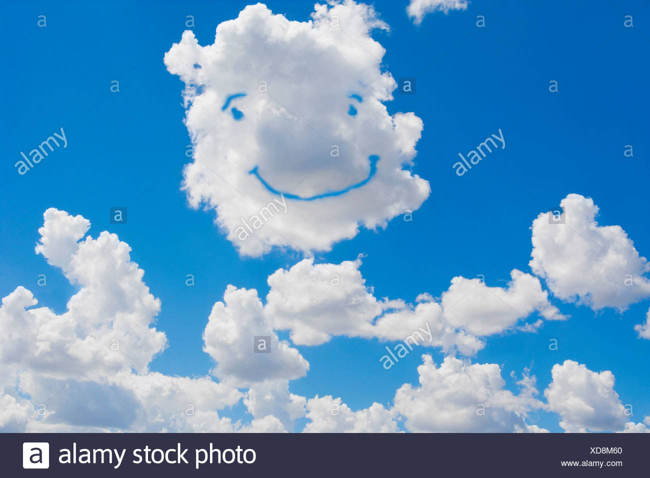 Smiley Face Formed In Clouds Stock Photo 283547880 Alamy