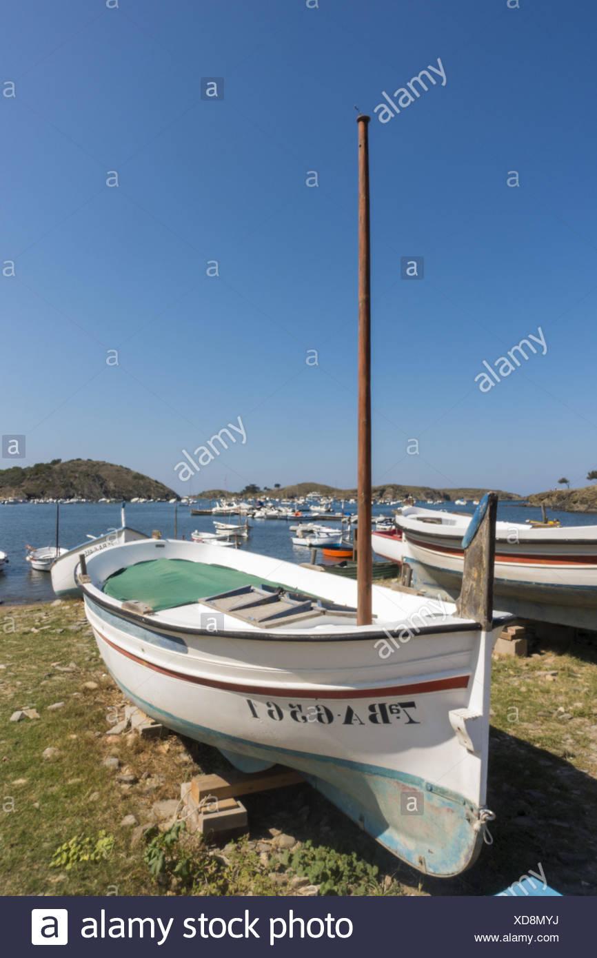 Cap de Creus, Bucht von Port Lligat, Costa Brava, Spanien, Katalanien, Portlligat - Stock Image