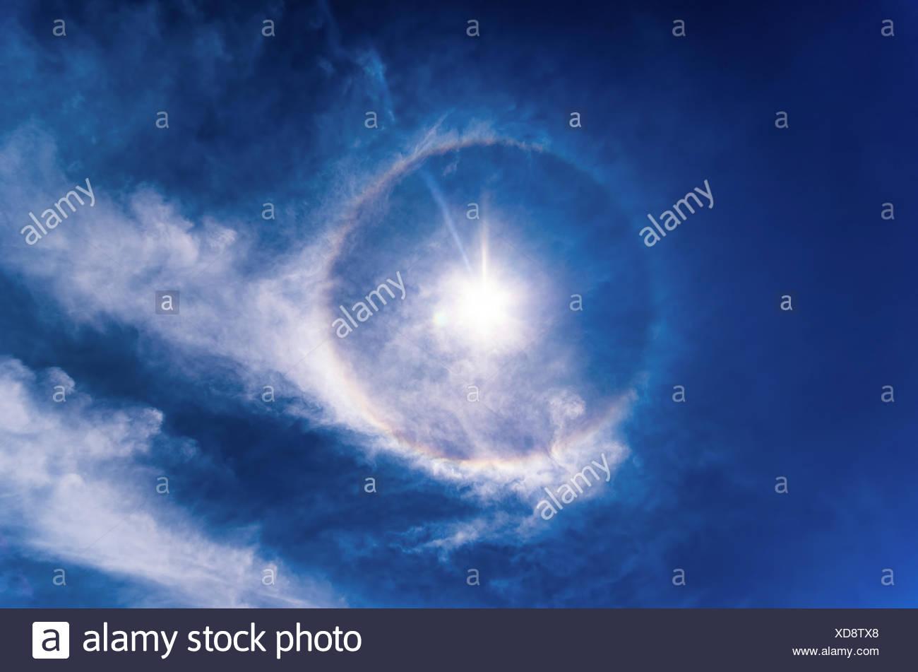22 Degree Halo, Optical Phenomenon - Stock Image