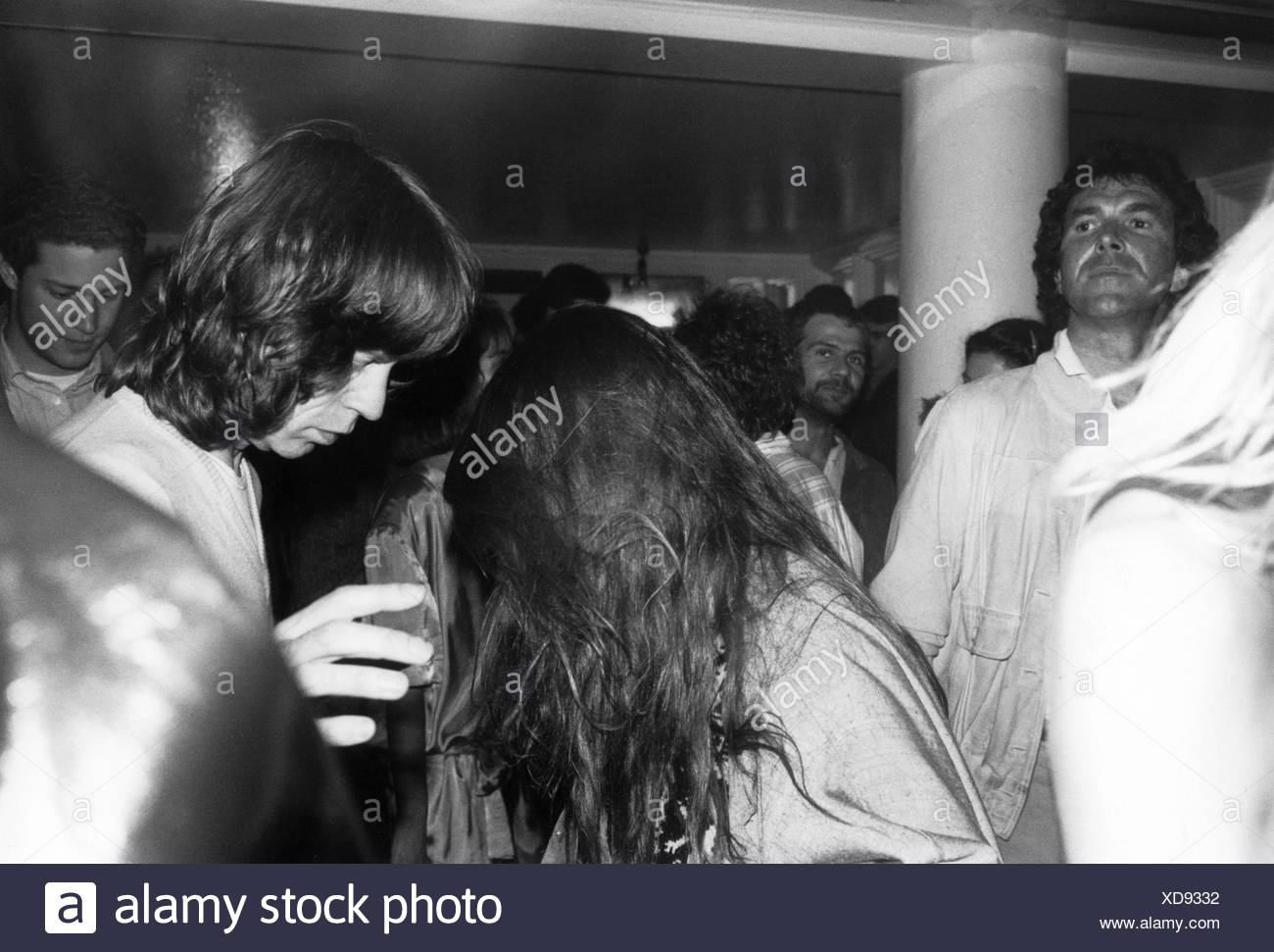 Jagger, Mick, * 18.12.1943, British musician, half length, in the disco 'P1', Munich, Germany, 1986, Additional-Rights-Clearances-NA - Stock Image