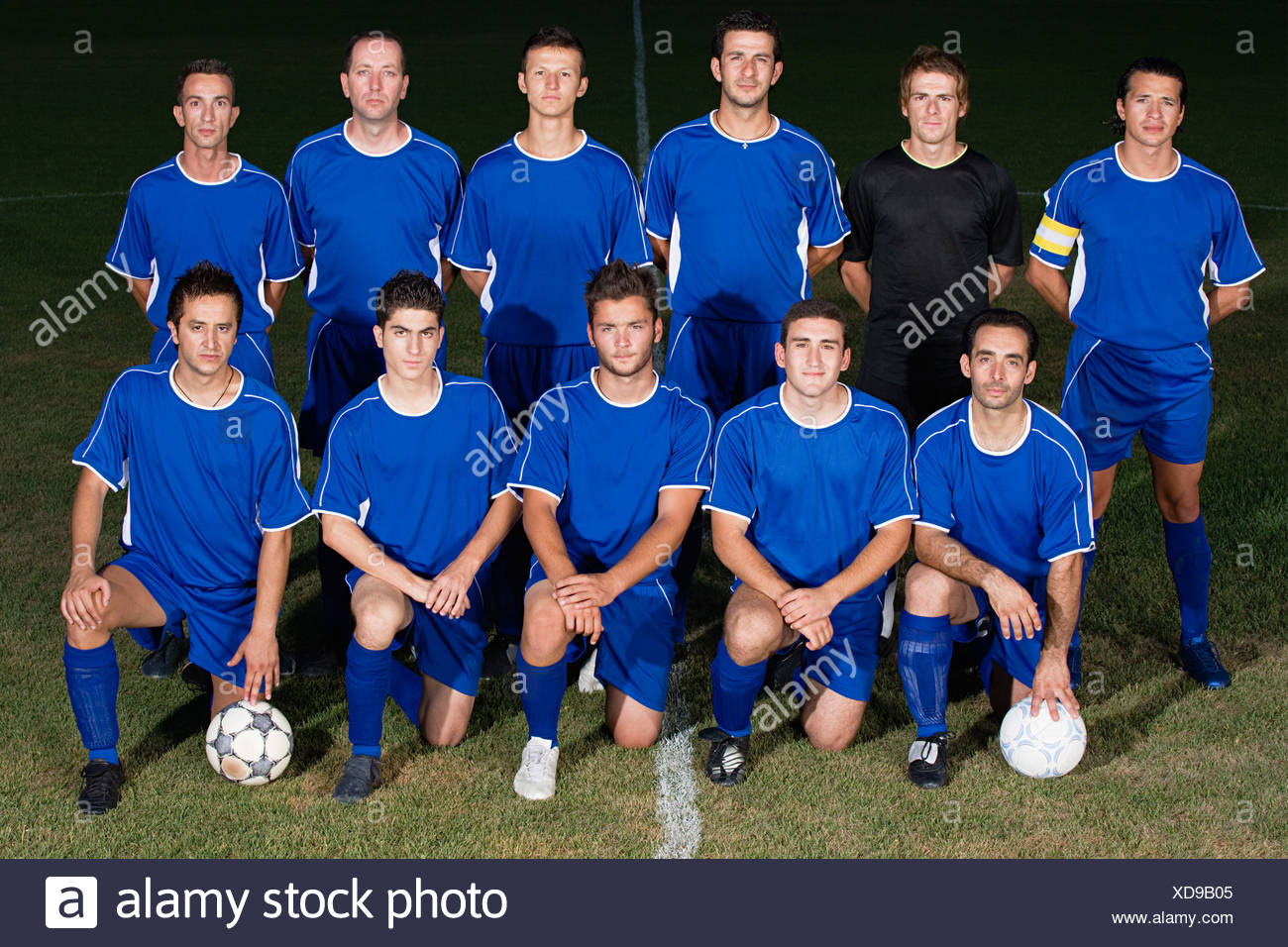 Portrait of a football team - Stock Image