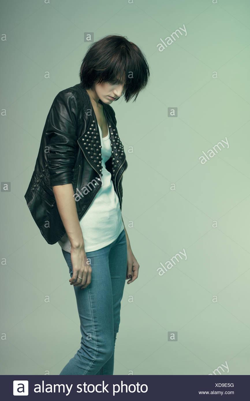 Heroin chic - Stock Image