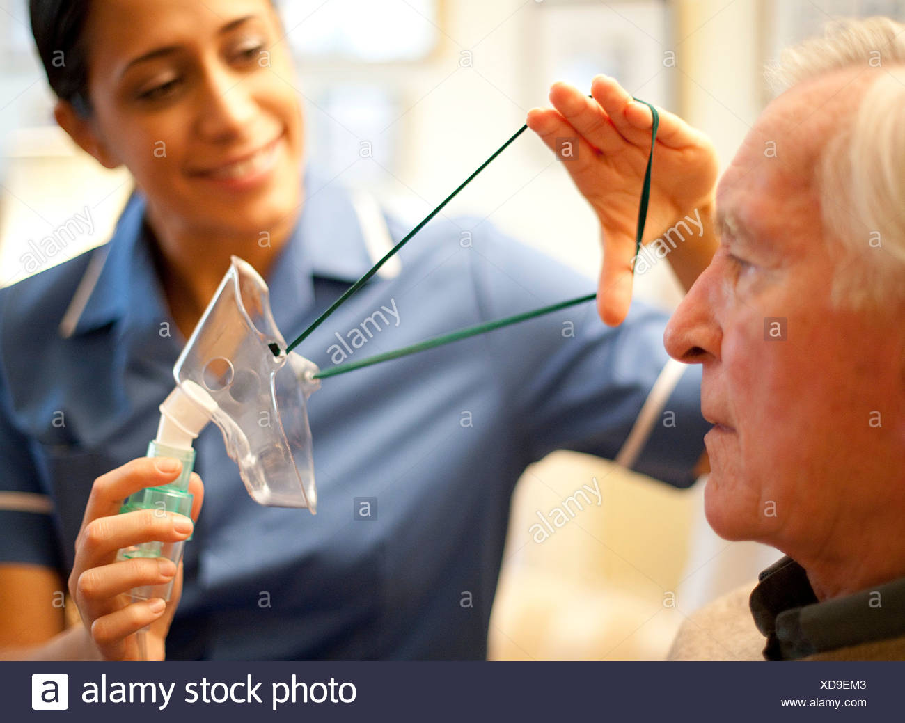 Oxygen therapy - Stock Image