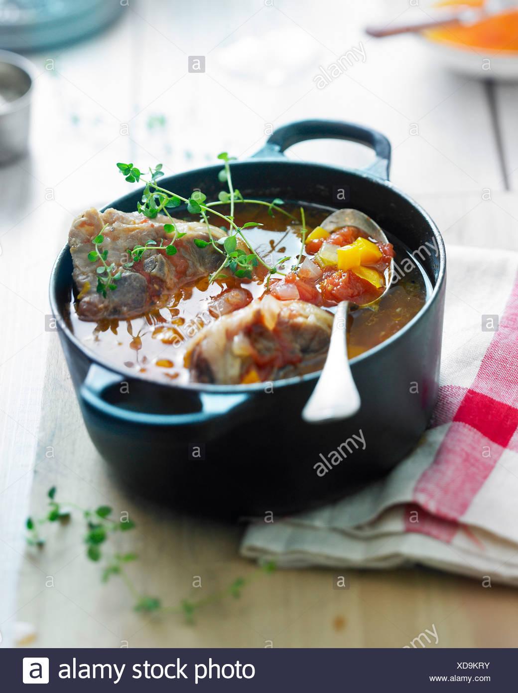 Lamb casserole - Stock Image