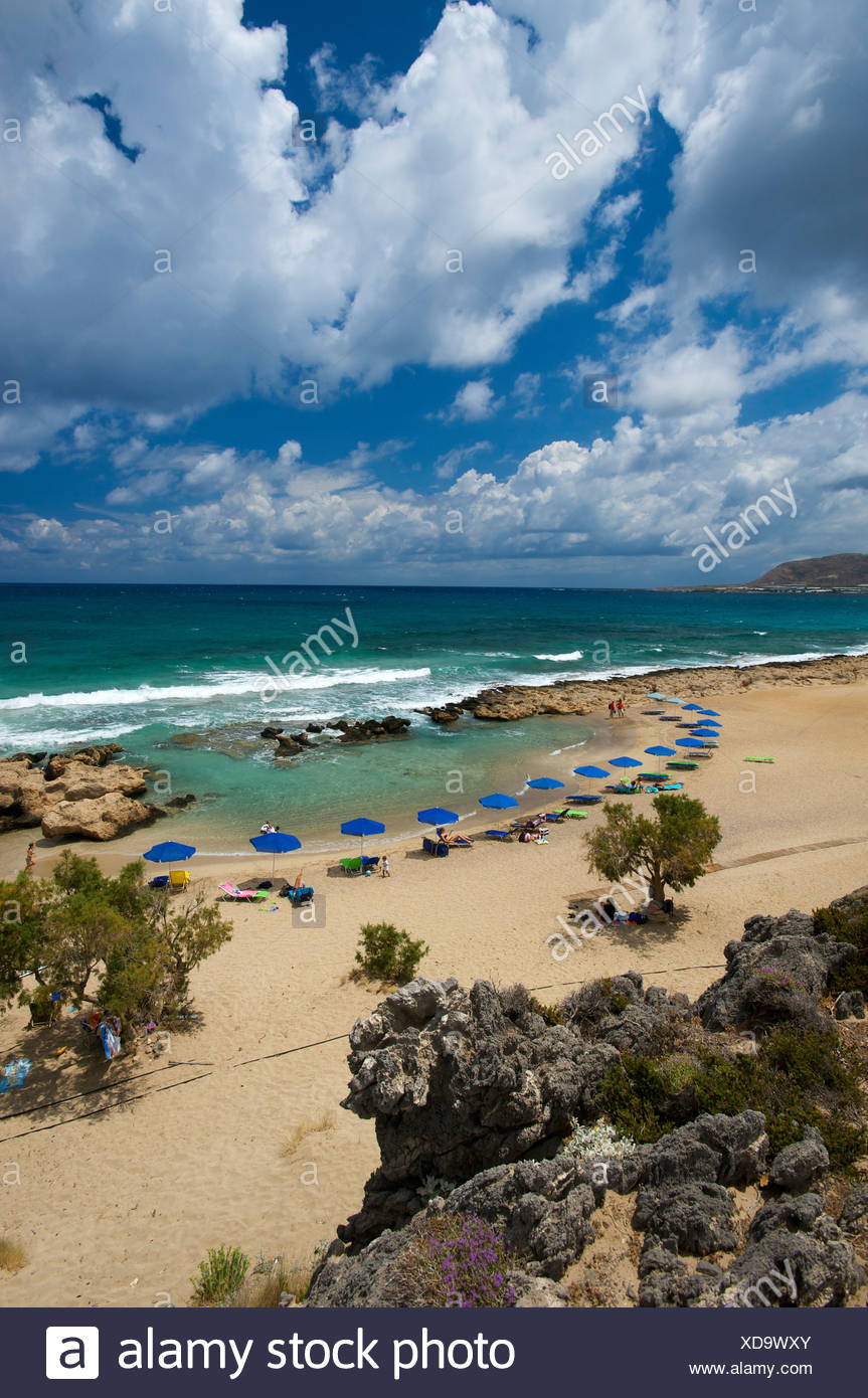 Falasarna beach, west coast, Crete, Greece, Europe Stock Photo