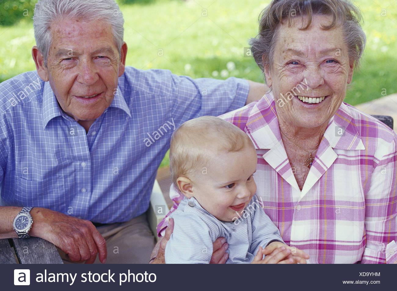 ... person, senior citizens, couple, grandparents, great-grandparents,  granny, grandpa, grandson, grandchild, great-grandchild, old grandchild,  infant, boy, ...