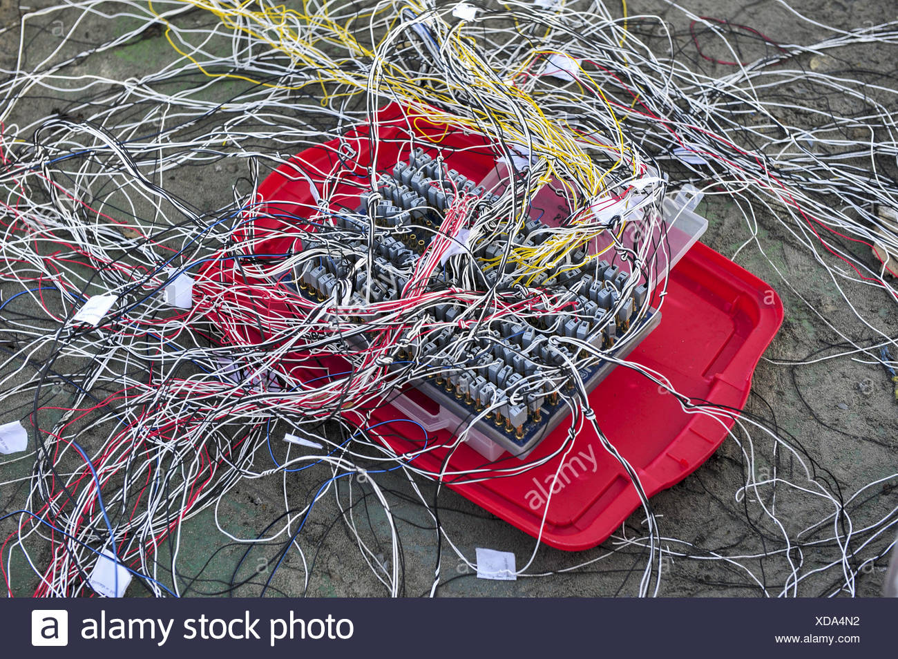 Zündverteiler für Feuerwerk, Pyrotechnik - Stock Image