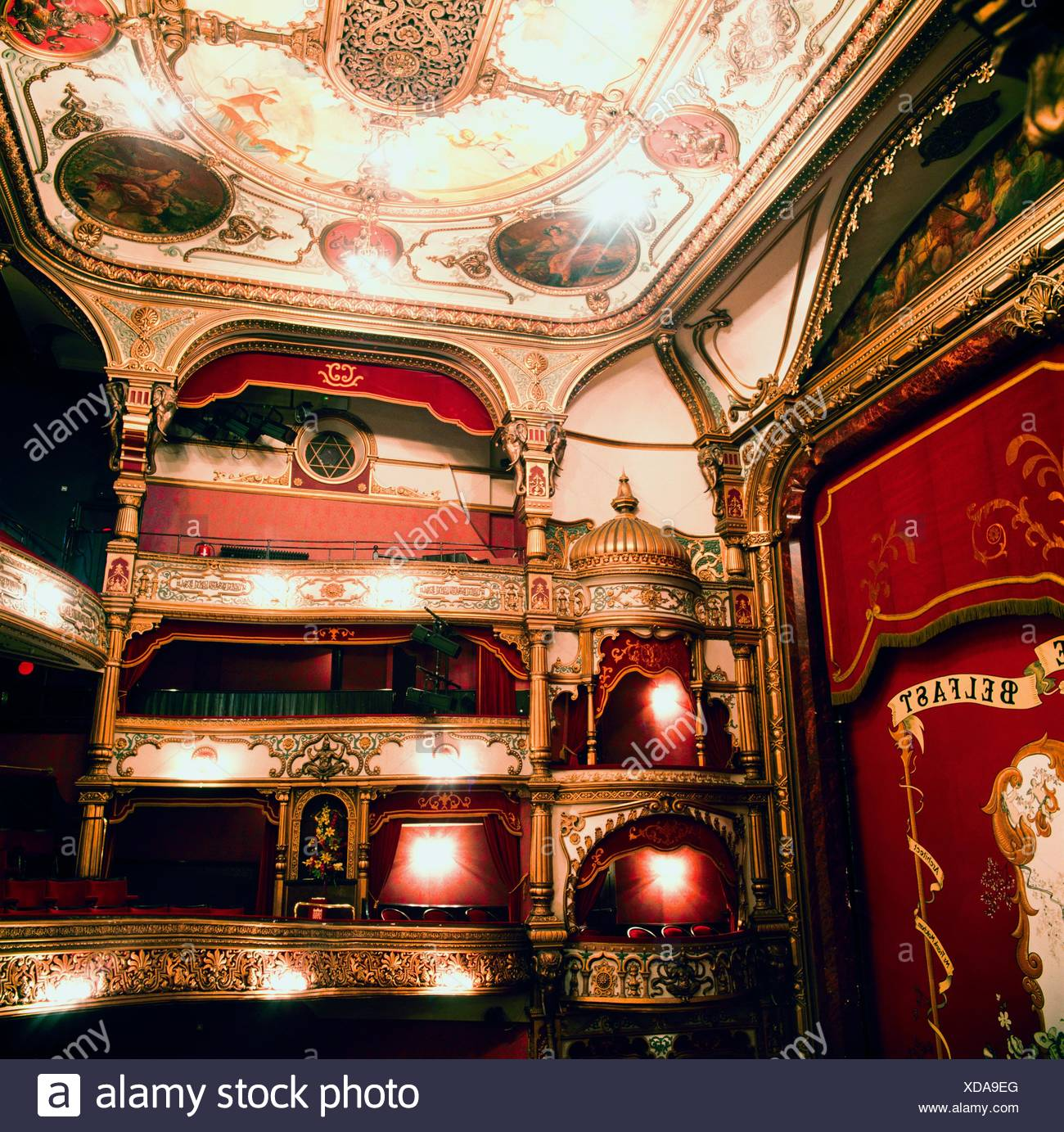 Grand Opera House, Belfast, Ireland; Opera House Designed By Frank Matcham And Opened In 1895 - Stock Image