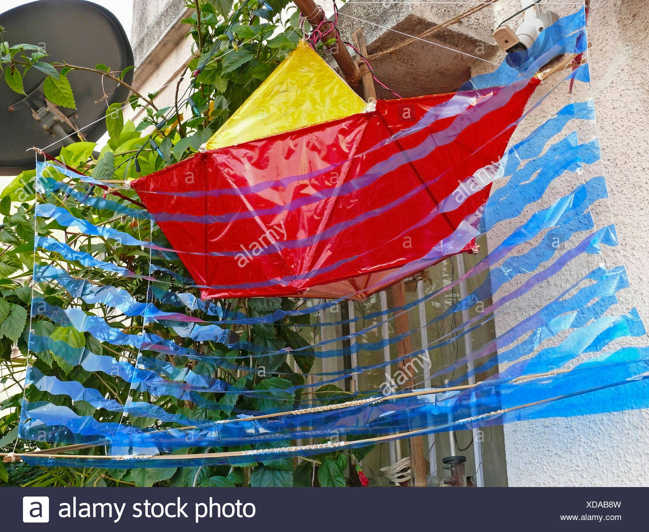 Boat shaped Lantern - Stock Image