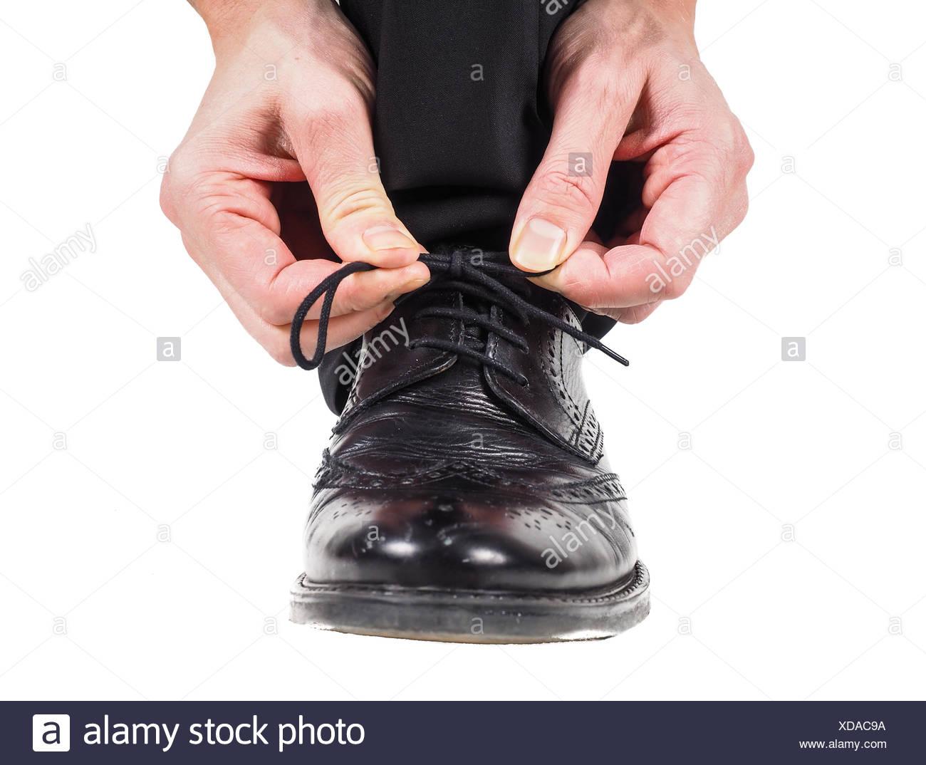 Black Woman Tying Shoe Laces