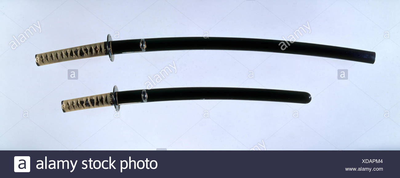 Blade and Mounting for a Sword (Katana). Swordsmith: Blade inscribed by Sukemitsu of Bizen (Japanese, Bizen, Muromachi period, active ca. 1440); - Stock Image
