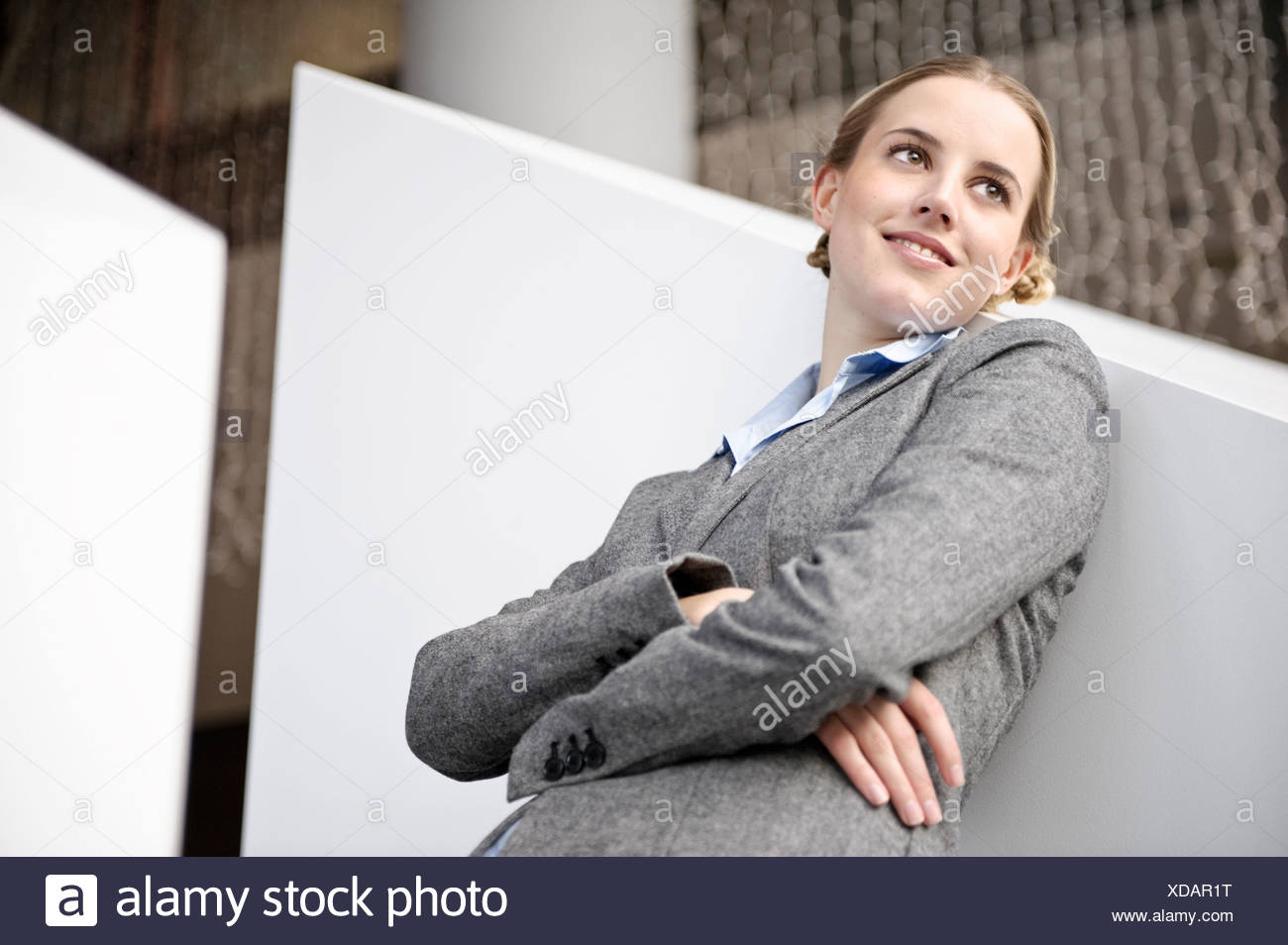 Portrait of friendly succesful business - Stock Image