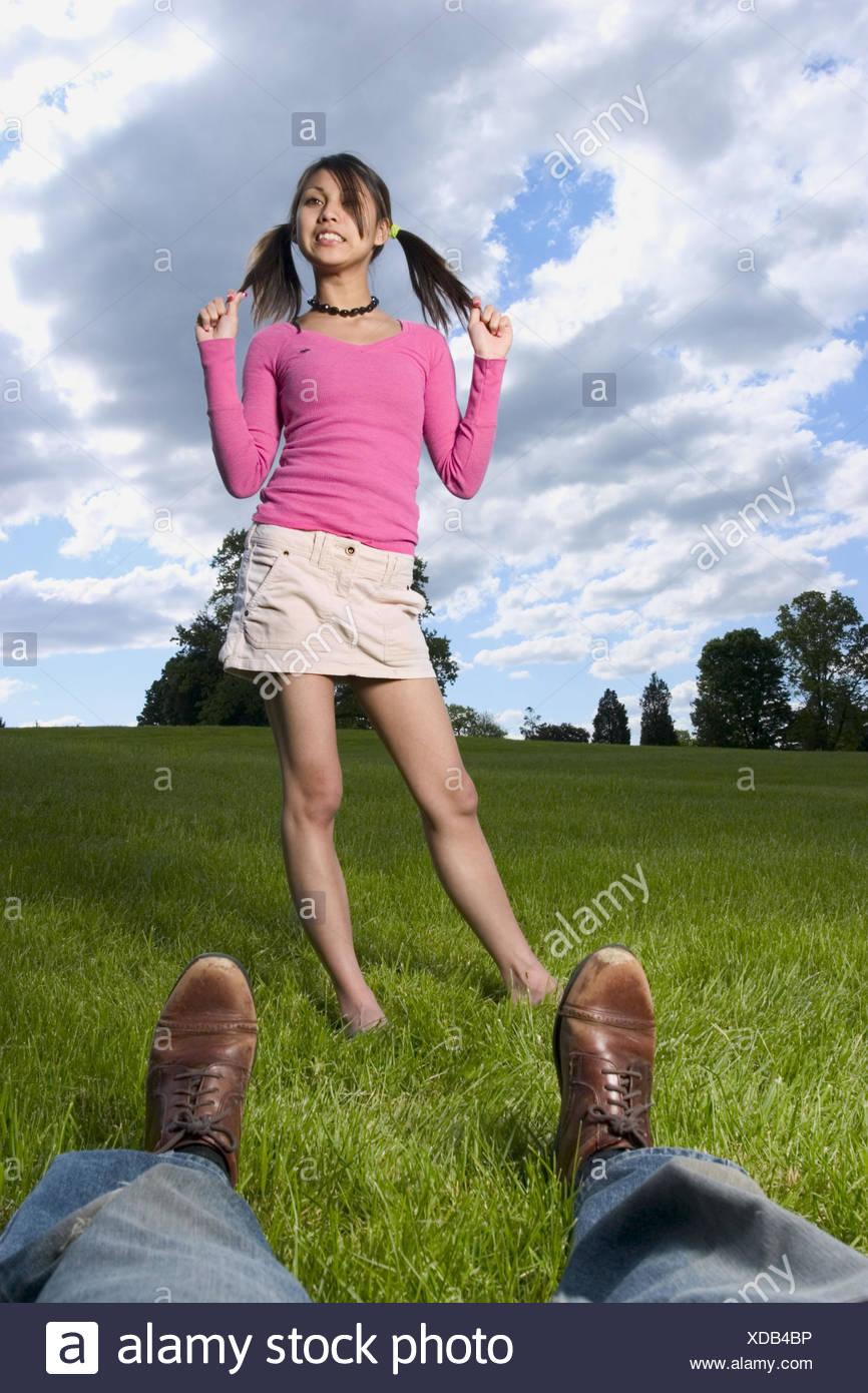 Feet posing