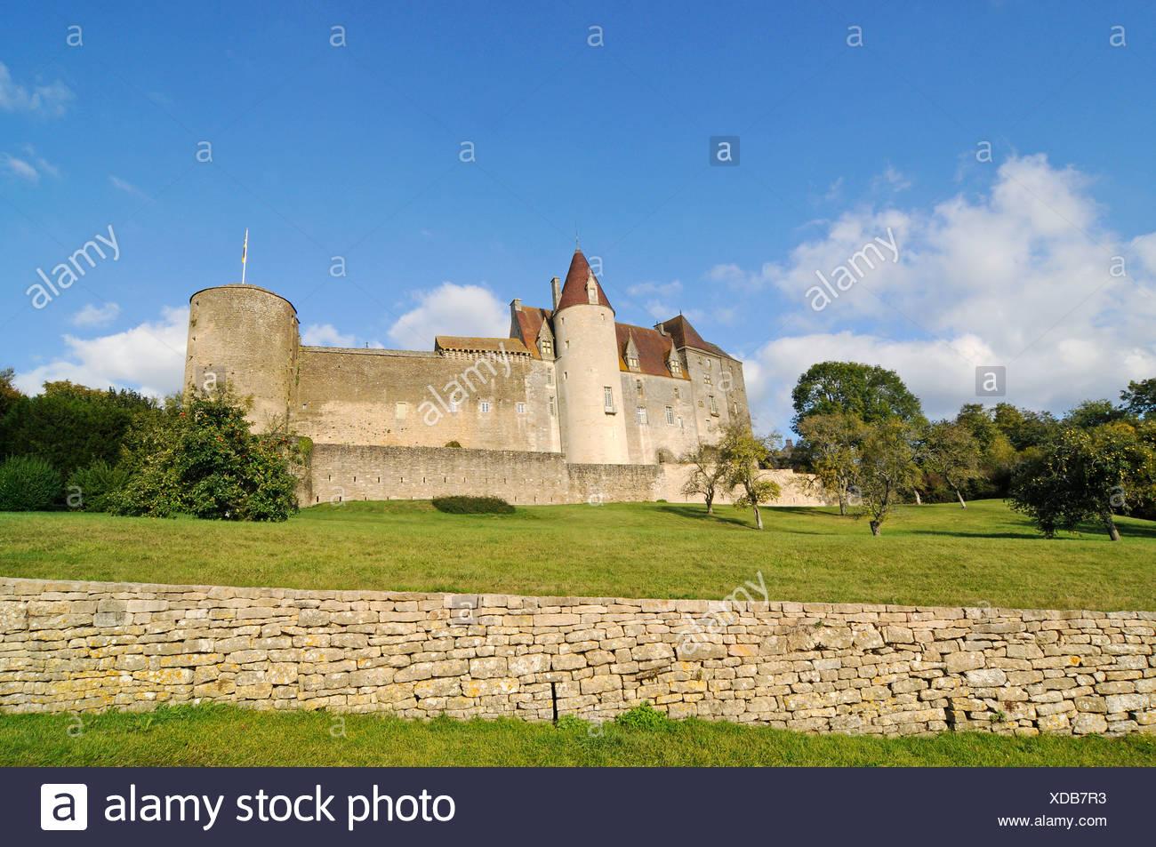 Chateau, castle, Chateauneuf, Dijon, Cote-d'Or, Bourgogne, Burgundy, France, Europe, PublicGround Stock Photo