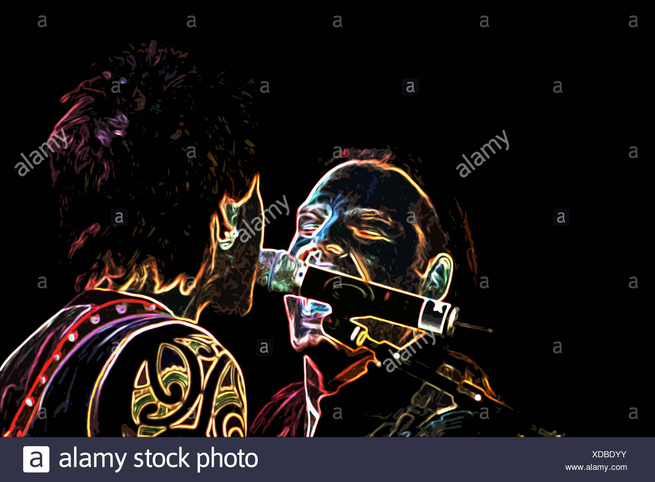 Duet on Stage - Stock Image