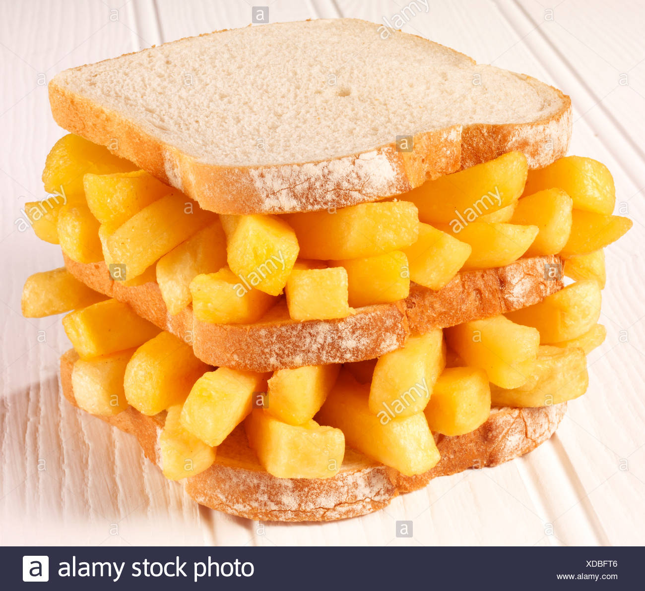 CHIP BUTTY SANDWICH - Stock Image
