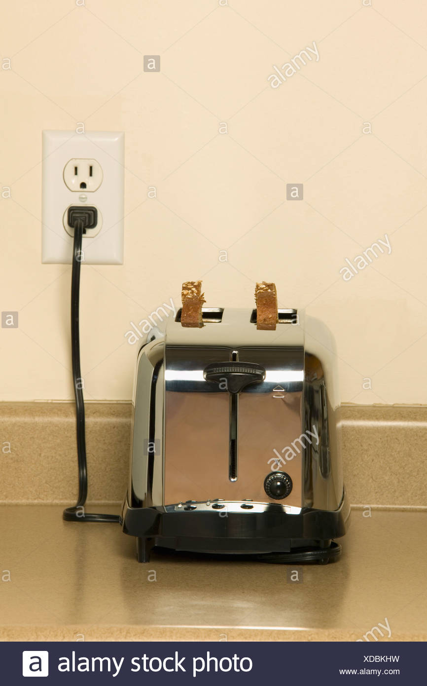 Toaster Plugged In ~ Toaster stock photos images alamy