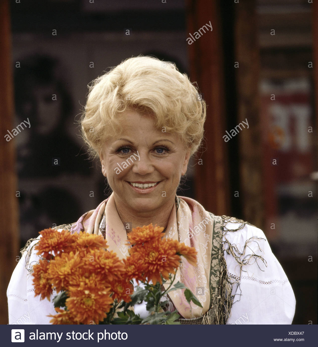Hellwig, Maria, 22.2.1920 - 26.11.2010, German singer (folk music), portrait, 1981, Additional-Rights-Clearances-NA - Stock Image