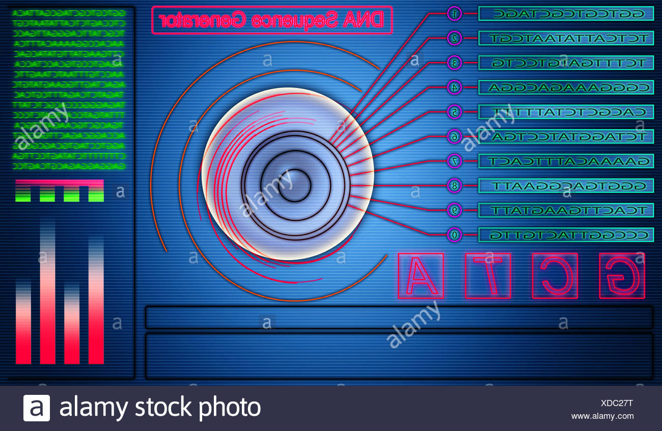 DNA sequence generator - Stock Image