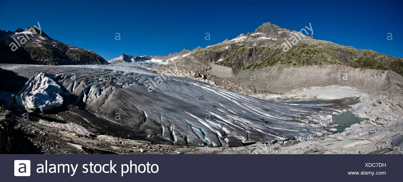 Rhone glacier, 2009, Canton Uri, Switzerland, Europe Stock Photo