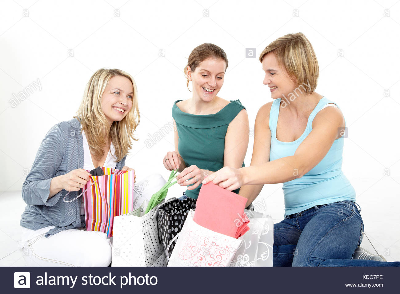 paperbags delighted unambitious - Stock Image