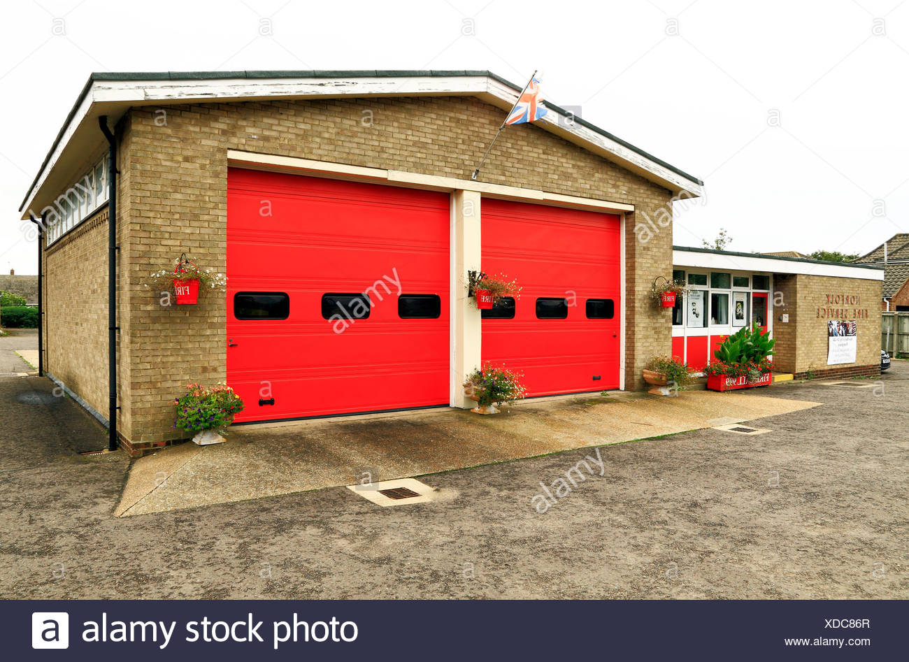 Norfolk Fire Service, Hunstanton Fire Brigade, Station, England, UK - Stock Image