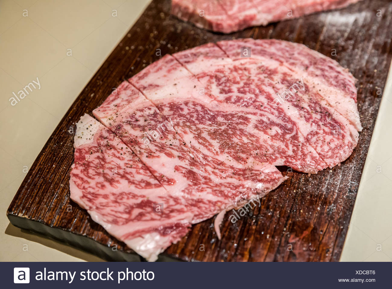 wagyu A5 Beef - Stock Image